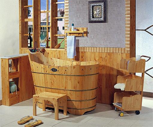 Ba era de madera de cedro de importaci n modelo canton for Baneras antiguas con patas baratas