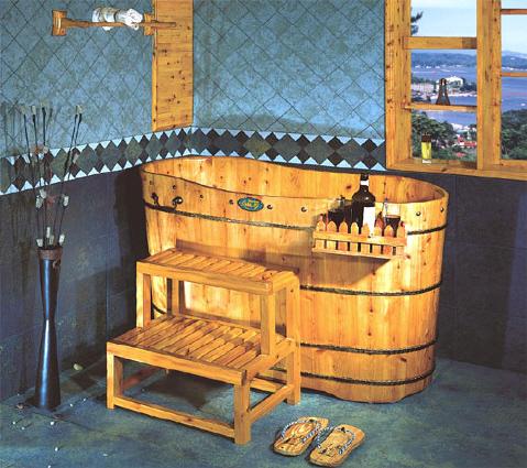 Ba era de madera de cedro de importaci n modelo pekin for Baneras antiguas con patas baratas