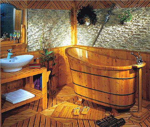 Baño De Tina Para Bajar La Fiebre:de madera de cedro de importación modelo Shanghai: Bañeras de