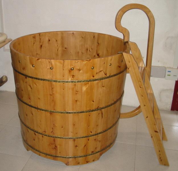 Ba era de madera de cedro de importaci n modelo tianjin for Banera antigua con patas
