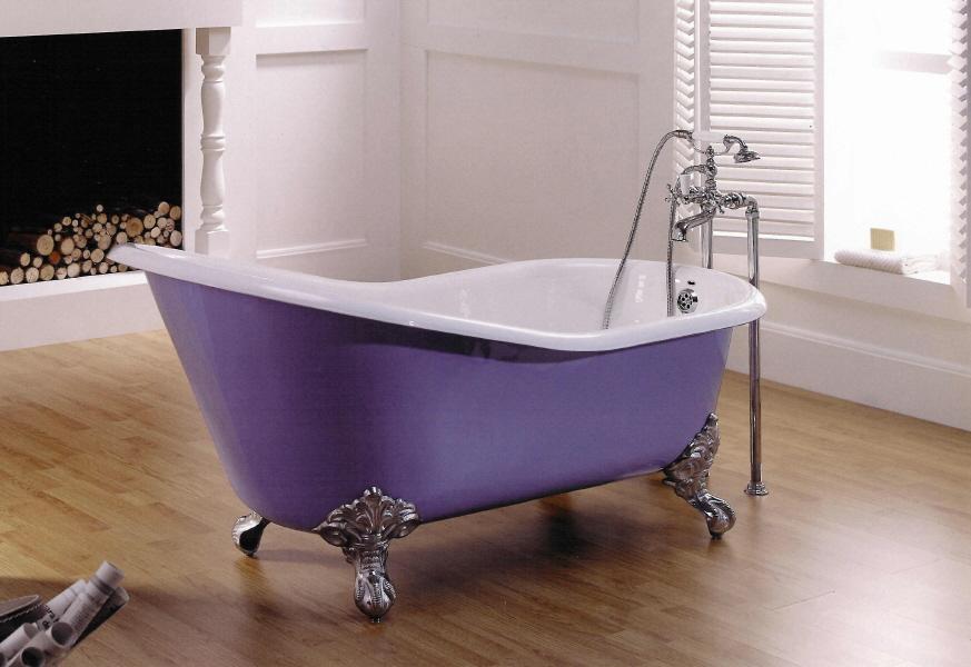 Baño De Tina Para Bajar La Fiebre:Bañera de importación tipo época con respaldo: Bañeras de hierro